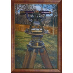 "Картина ""Gurley Light Mountain Survey Transit Compass Level Pre1908 With Tripod"""