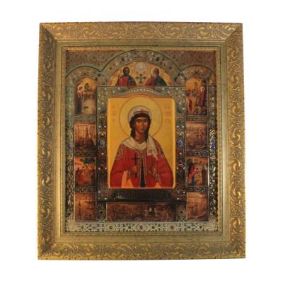 Икона святой Варвары 32,5x43