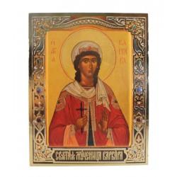 Икона святой Варвары 15x19